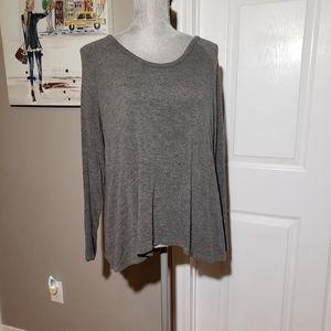 SOFT JOIE flowy sweater, back pleat detail